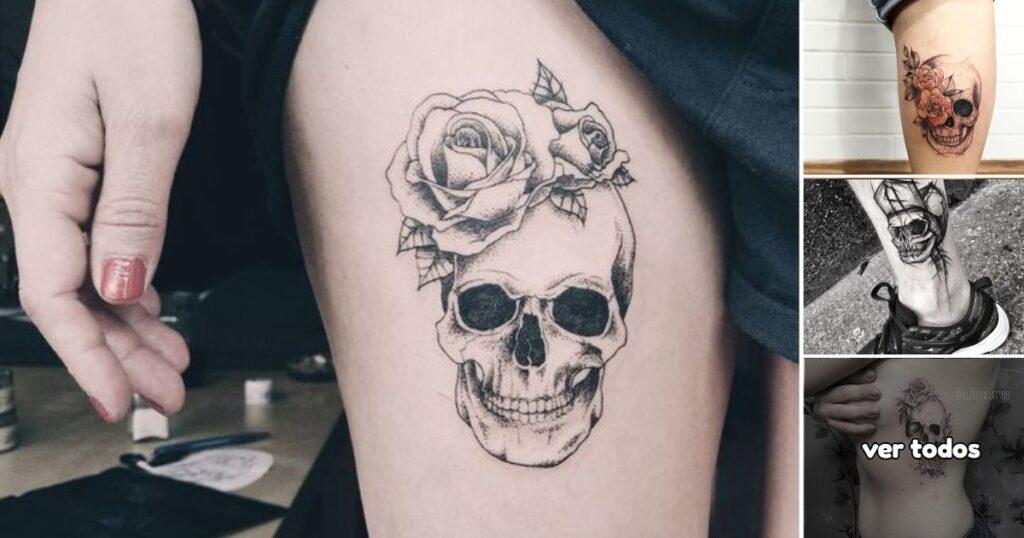25 ideas geniales de Tatuajes de Craneos para Hombres y Mujeres