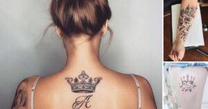 35 Increíbles Diseños de Tatuajes de Coronas para hombres y mujeres