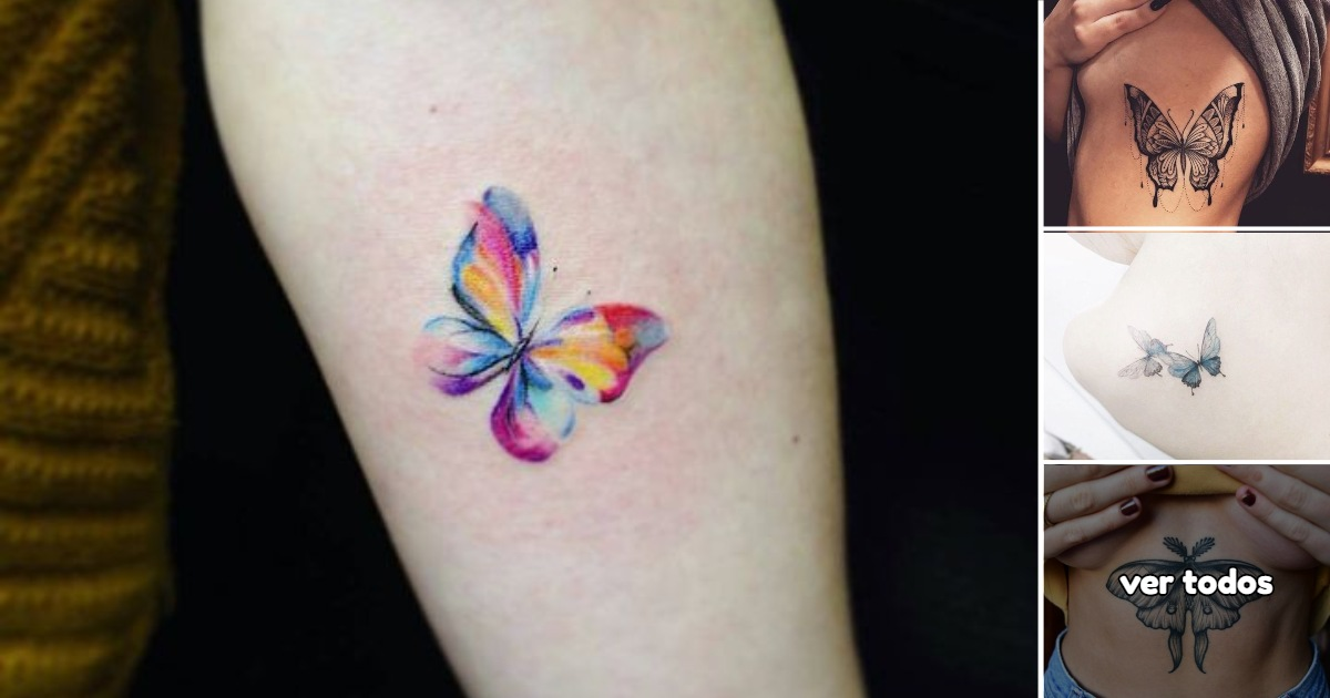 35 Lindas y Coloridas Ideas de Tatuajes de Mariposas para Mujeres