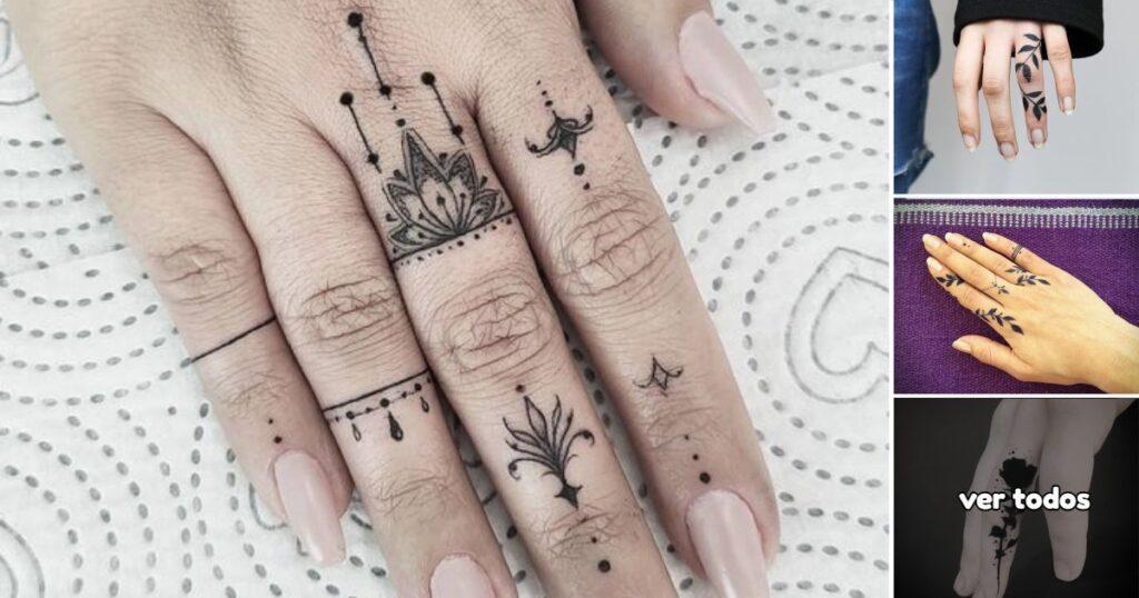 40 Pequeños Tatuajes en los Dedos