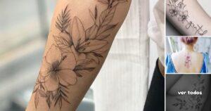 45 Ideas de Tatuajes Florales para Mujeres