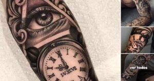 31 Ideas de Tatuajes de Relojes