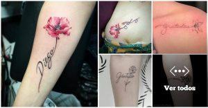 40 Tatuajes de Flores y Nombres
