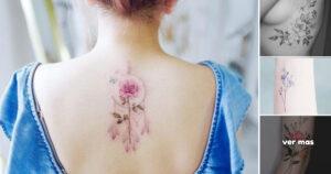 Lindas ideas de Tatuajes Florales para chicas