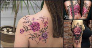 Tatuajes de flores Moradas