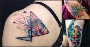 Tatuajes para mujeres (acuarela)