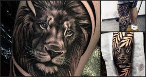 Espectaculares Tatuajes de Leones salvajes