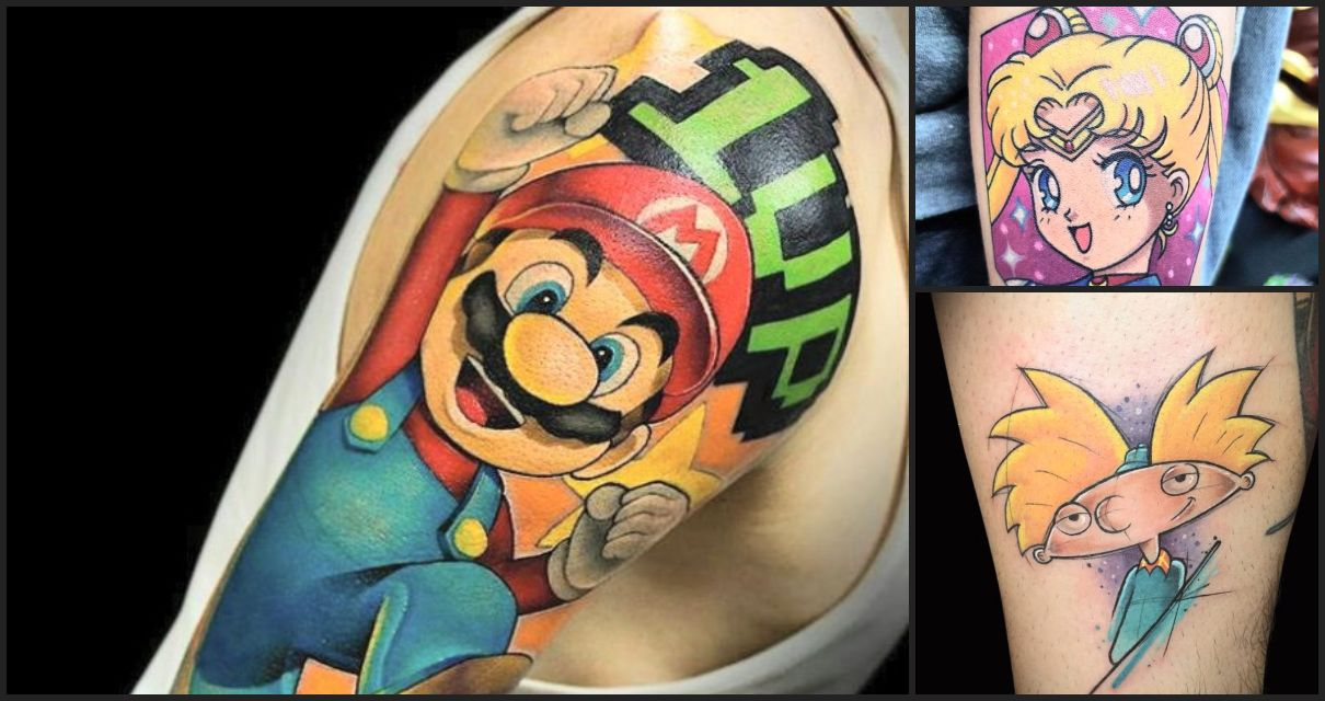 Tatuajes increíbles que te harán transportarte a tu infancia