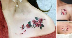 Mas de 20 Lindos y Pequeños tatuajes en la clavícula