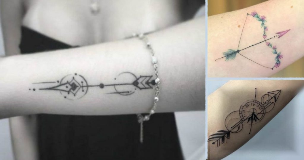 Tatuajes en forma de flecha para mujeres
