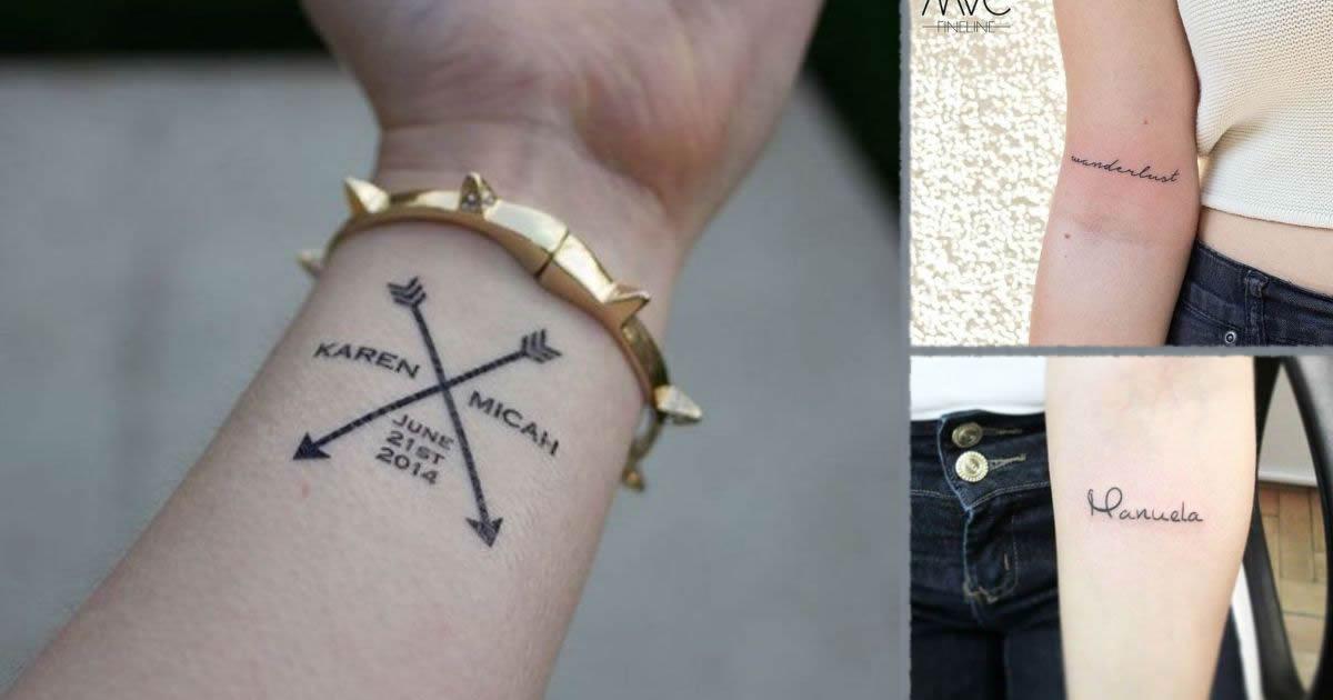 Tatuajes de Nombres y Frases cortas
