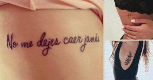 Tatuajes en las costillas para mujeres