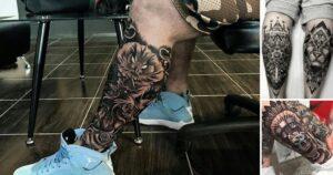 30 Creativos Tatuajes en la pierna para hombres