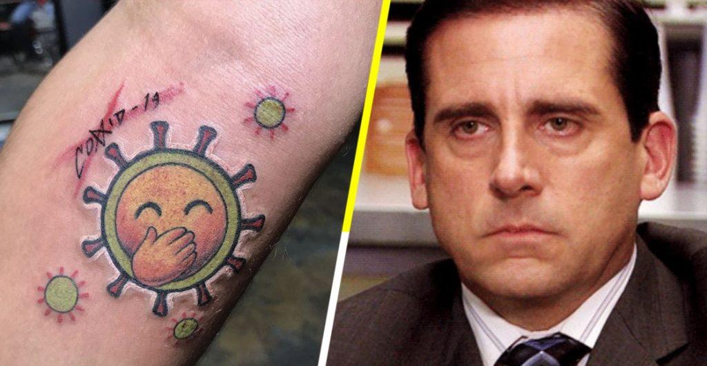 Aparecieron los insólitos (e innecesarios) tatuajes del C0VID-l9