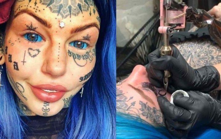 Mujer gasta fortuna en llenarse de tatuajes porque quería saber «cómo se sentía»