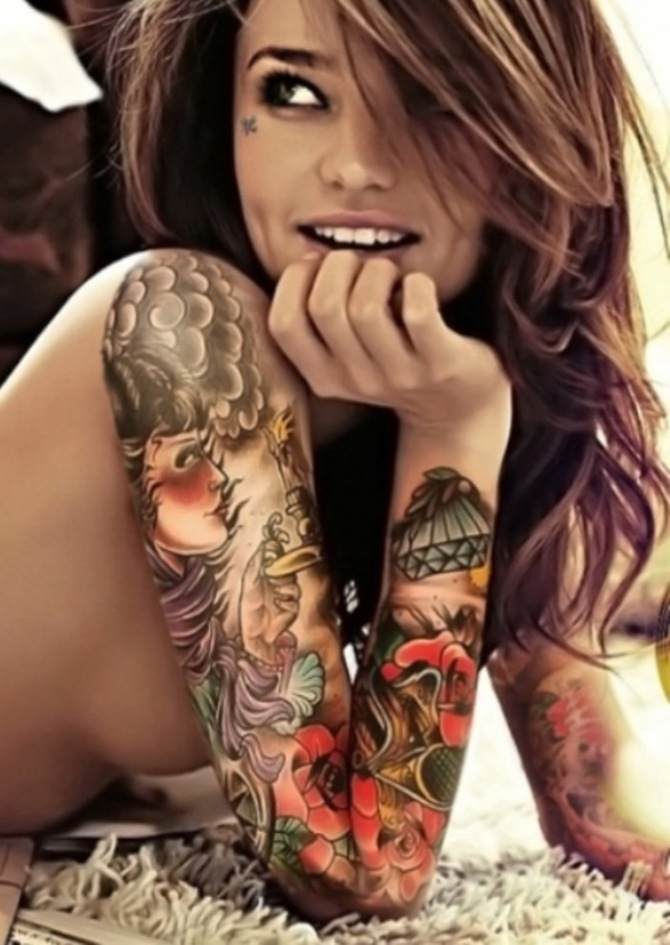 Tattoo on Shoulder for Girls - 20+ Sleeve Tattoos for Women <3 <3