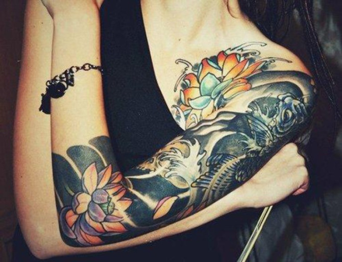 Japanese Tattoo Half Sleeve - 20+ Sleeve Tattoos for Women <3 <3