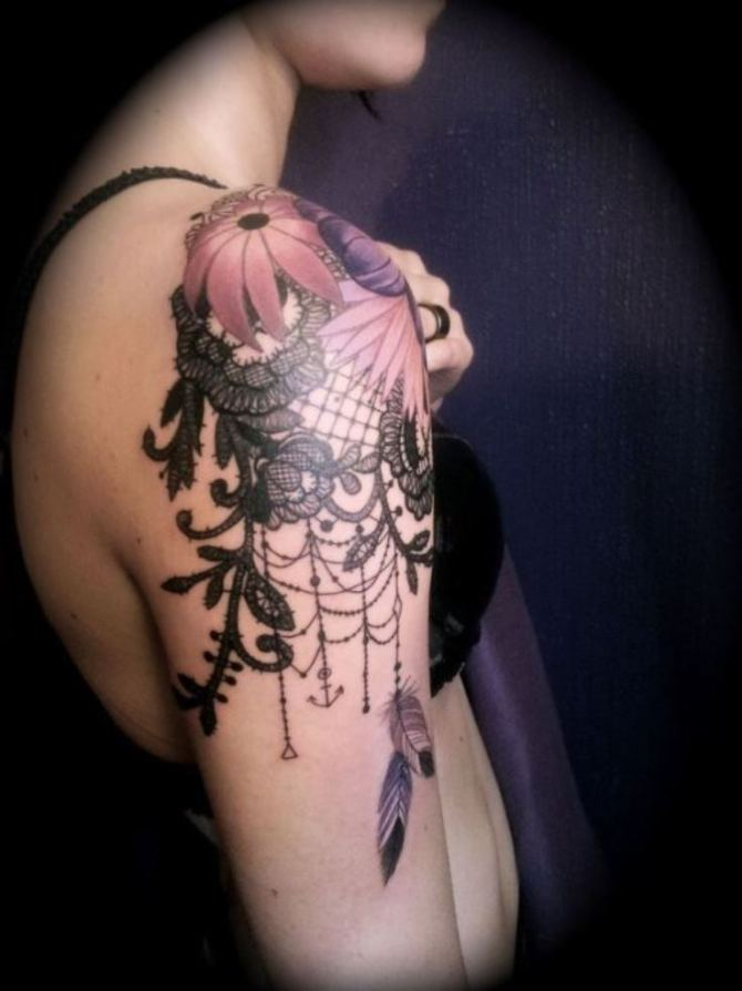 Lace Tattoo - 20+ Sleeve Tattoos for Women <3 <3
