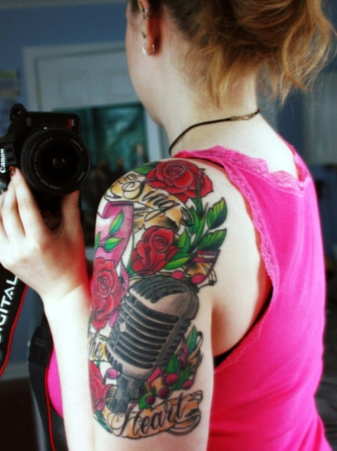 Girl Half Sleeve Tattoo - 20+ Sleeve Tattoos for Women <3 <3