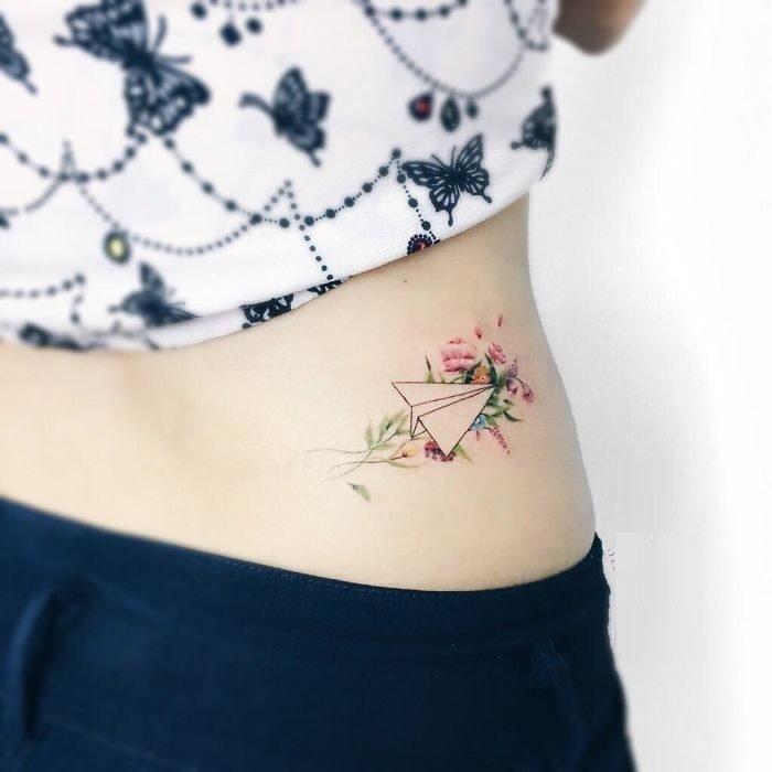 tatuaje con acuarelas