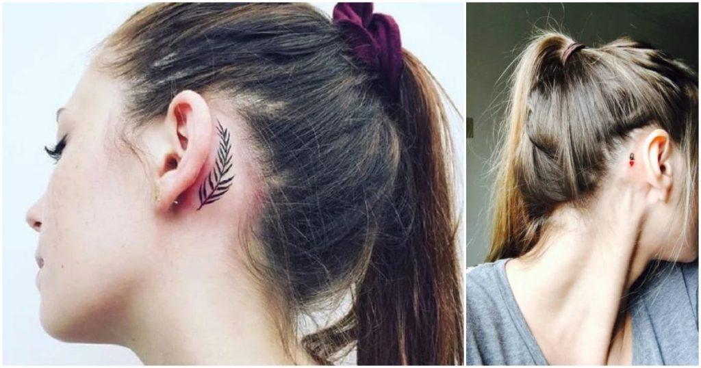 15 Hermosos tatuajes detrás de la oreja sutiles y femeninos