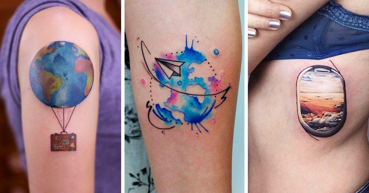 17 Tatuajes para chicas que no pueden estar en su casa; ¡NECESITAN vivir viajando!