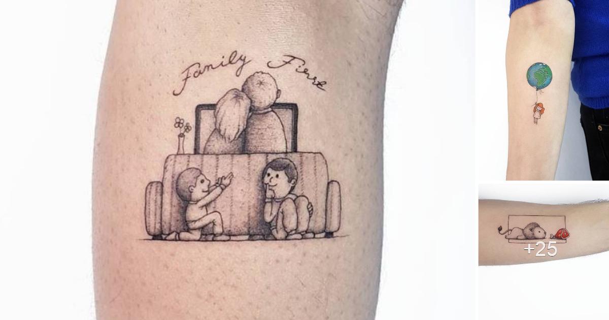 30 tatuajes pequeños y adorables de Ahmet Cambaz de Estambul