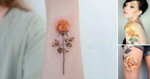 Mas de 20 Ideas de Tatuajes con Rosas Amarillas