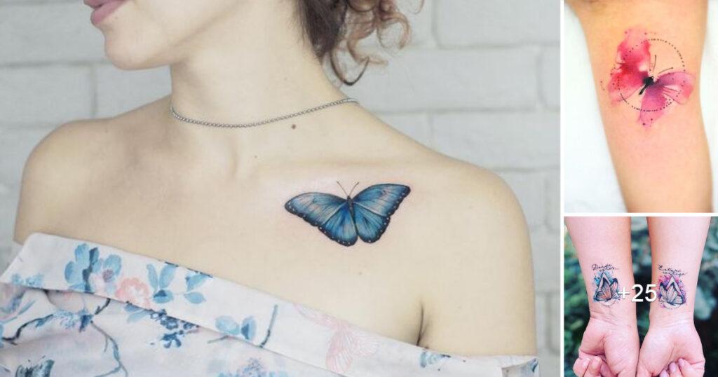 Lindas Ideas de Tatuajes de Pequeñas Mariposas y su Significado