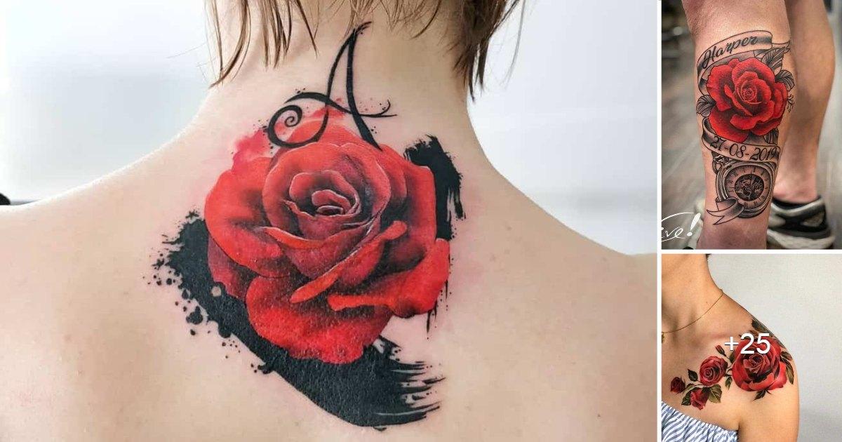 Los Mejores Diseños de Tatuajes de Rosas Rojas