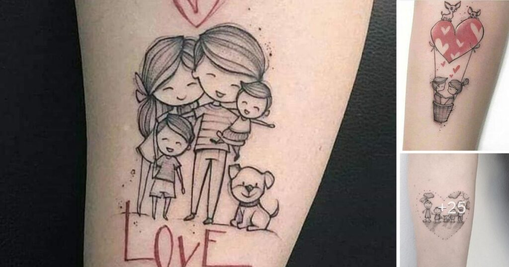 25 Ideas de Tatuajes Hechos en Honor a la Familia