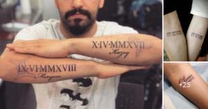 Significados de los tatuajes con números romanos + ideas