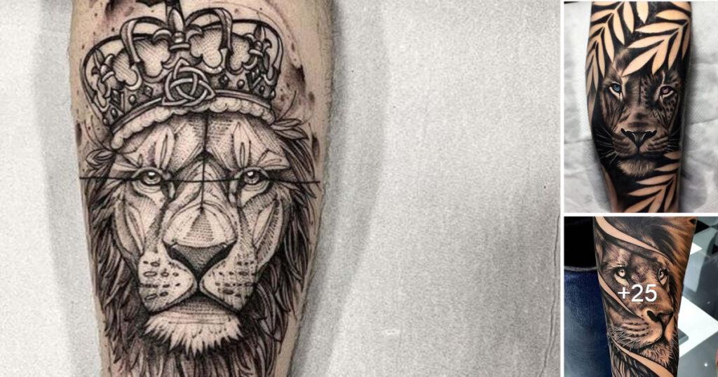 Colección de 58 diseños de tatuajes de leones valientes