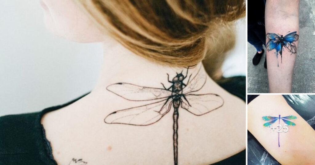 60 diseños únicos de tatuajes de libélulas