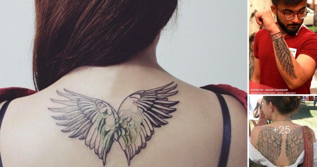 59 tatuajes de alas de ángel: galería de imágenes