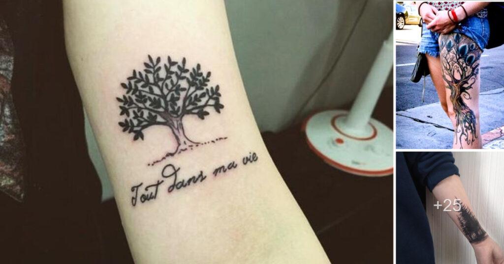 47 tatuajes y diseños de árboles y lo que simbolizan