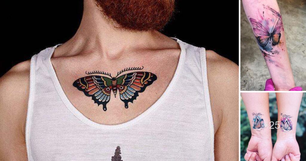 80 Creativos diseños de tatuajes de mariposas y lo que representan