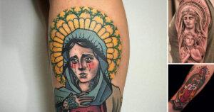 30 Diseños de tatuajes inspirados en virgenes