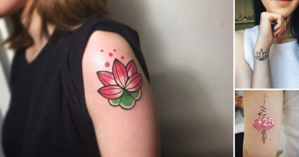 40 diseños y tatuajes de flores de loto