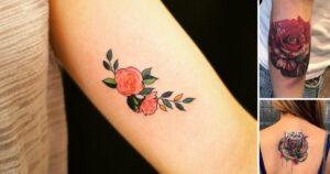41 Ideas de Tatuajes de rosas y rosales: galería de fotos
