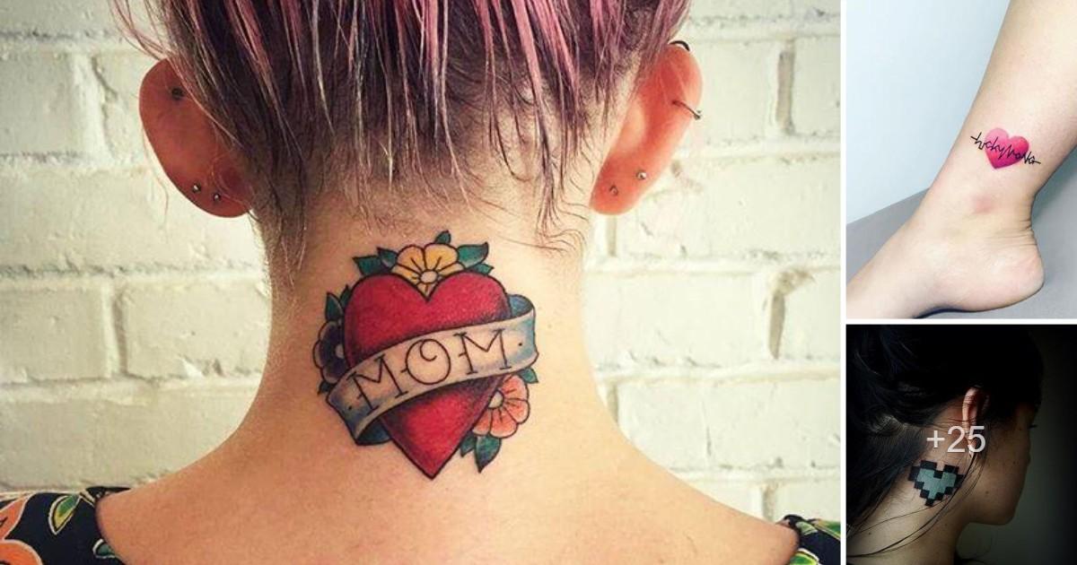 35 Ideas geniales de Tatuajes de Corazones y significados