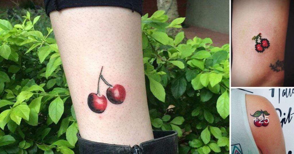 Ideas de tatuajes y diseños de cereza roja
